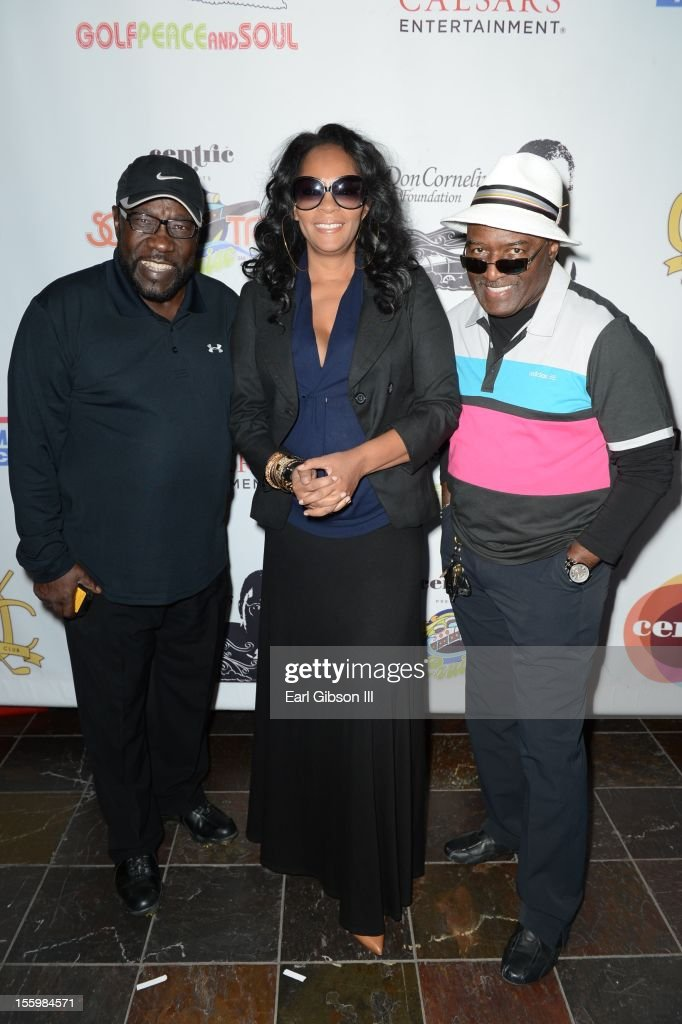Eddie Levert, Jody Watley and Walter Williams attend the First Annual Soul Train Celebrity Golf Invitational on November 9, 2012 in Las Vegas, Nevada.