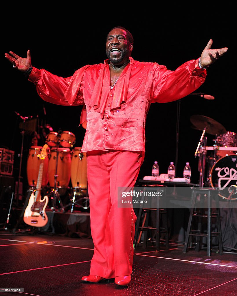 Eddie Levert of The O Jays performs at Hard Rock Live! in the Seminole Hard Rock Hotel & Casino on February 14, 2013 in Hollywood, Florida.