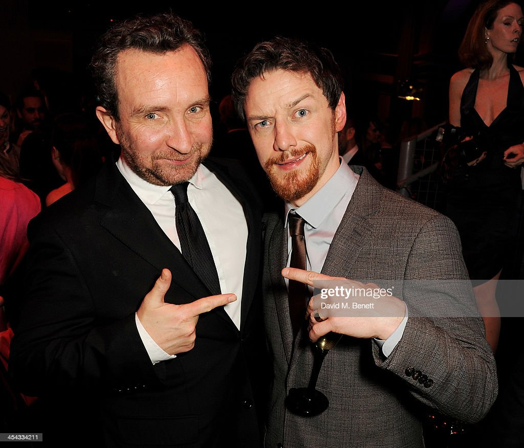 Eddie Marsan (L) and James McAvoy attend an after party following the Moet British Independent Film Awards 2013 at Old Billingsgate Market on December 8, 2013 in London, England.