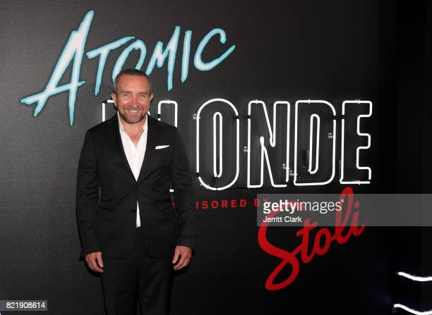 Eddie Marsan attends the American premiere of Atomic Blonde starring Oscar awardwinning actress Charlize Theron at The Theatre At The Ace Hotel on...