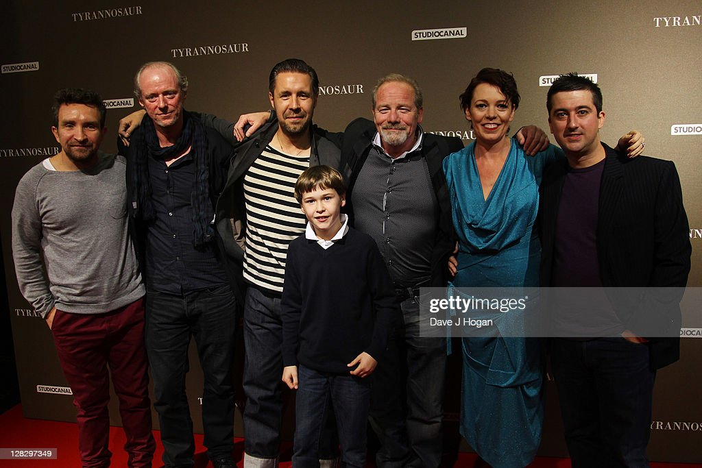 L-R <a gi-track='captionPersonalityLinkClicked' href=/galleries/search?phrase=Eddie+Marsan&family=editorial&specificpeople=2653318 ng-click='$event.stopPropagation()'>Eddie Marsan</a>, Ned Dennehy, <a gi-track='captionPersonalityLinkClicked' href=/galleries/search?phrase=Paddy+Considine&family=editorial&specificpeople=218066 ng-click='$event.stopPropagation()'>Paddy Considine</a>, Samuel Bottomley, <a gi-track='captionPersonalityLinkClicked' href=/galleries/search?phrase=Peter+Mullan&family=editorial&specificpeople=533010 ng-click='$event.stopPropagation()'>Peter Mullan</a>, <a gi-track='captionPersonalityLinkClicked' href=/galleries/search?phrase=Olivia+Colman&family=editorial&specificpeople=5153582 ng-click='$event.stopPropagation()'>Olivia Colman</a> and Paul Popplewell attend the London premiere of 'Tyrannosaur' at The BFI Southbank on October 6, 2011 in London, United Kingdom.