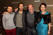 Eddie Marsan Paddy Considine Peter Mullan and Olivia Colman attend the London premiere of 'Tyrannosaur' at The BFI Southbank on October 6 2011 in...
