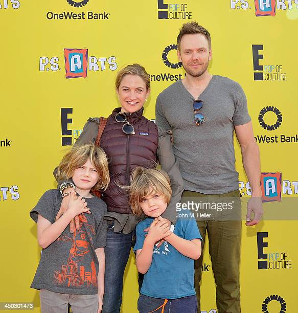 Eddie McHale Sarah McHale Issac McHale and actor Joel McHale attend the 2013 PS Arts Express Yourself at Barker Hangar on November 17 2013 in Santa...