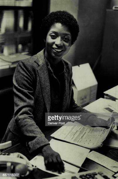 Eddie Miles at work as an Assistant Supervisor at the Express Ms Miles wants to write a book on selfimprovement for black women Credit Denver Post