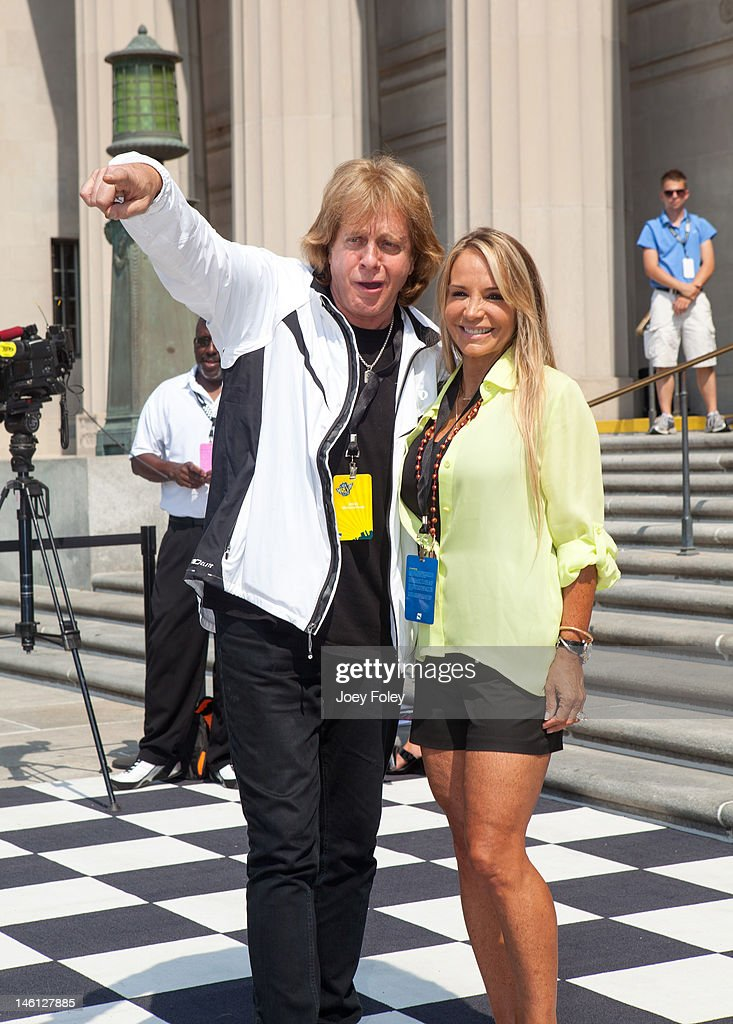 Eddie Money and his wife Laurie Monday attends the IPL 500 Festival Parade on May 26, 2012 in Indianapolis, Indiana.