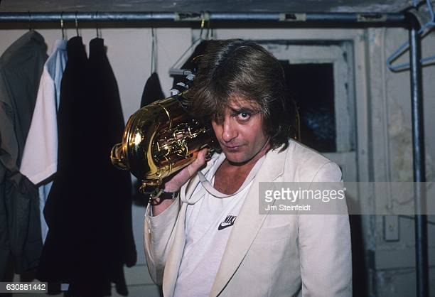 Eddie Money poses for a portrait at the Orpheum Theatre in Minneapolis Minnesota on May 2 1987