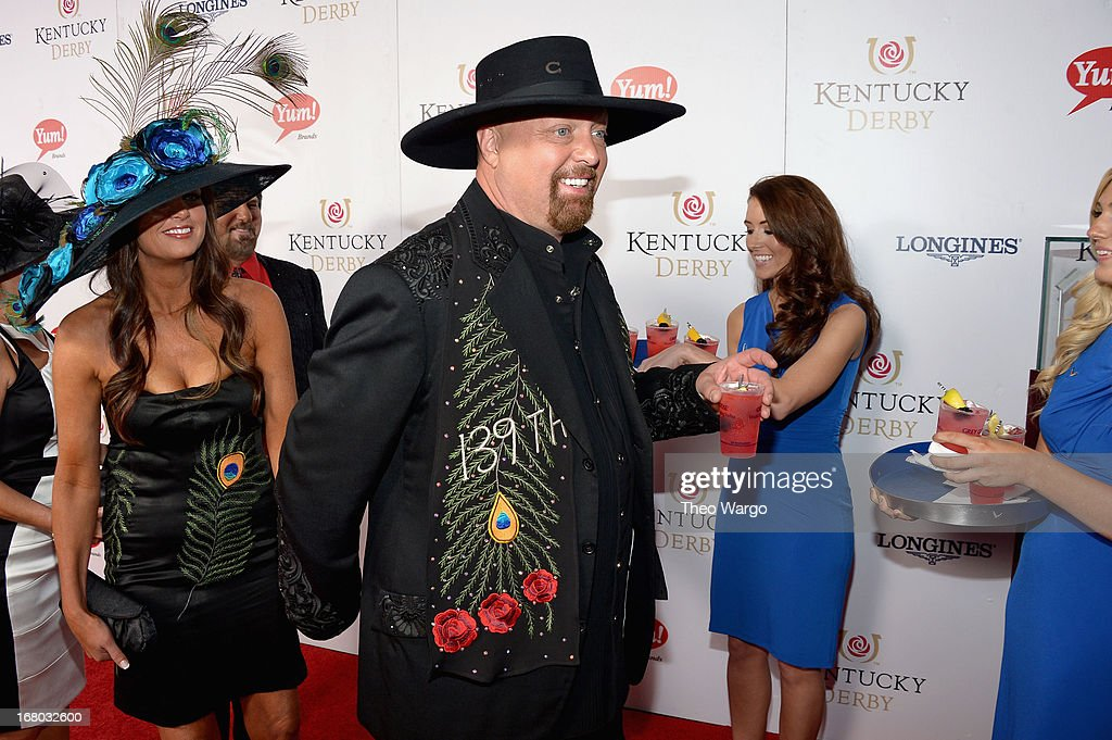 <a gi-track='captionPersonalityLinkClicked' href=/galleries/search?phrase=Eddie+Montgomery&family=editorial&specificpeople=221300 ng-click='$event.stopPropagation()'>Eddie Montgomery</a> (C) at the GREY GOOSE Red Carpet Lounge at the Kentucky Derby at Churchill Downs on May 4, 2013 in Louisville, Kentucky.