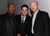 Eddie Murphy Brett Ratner and Paul Haggis attend the HELP HAITI benefiting The Ben Stiller Foundation and The J/P Haitian Relief Organization at the...