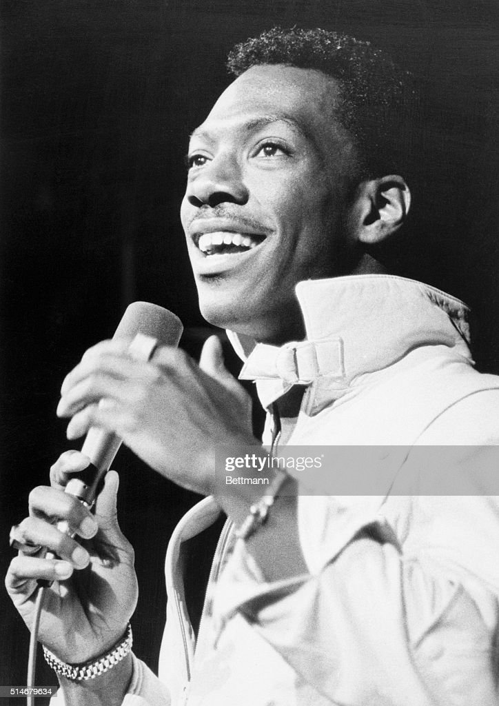 Eddie Murphy during a live performance in Hollywood