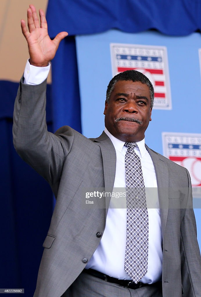 Eddie Murray attends the Hall of Fame Induction Ceremony at National Baseball Hall of Fame on July 26, 2015 in Cooperstown, New York. Craig Biggio,Pedro Martinez,Randy Johnson and John Smoltz were inducted in this year's class.