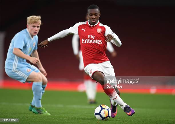 Eddie Nketiah of Arsenal during the Premier League 2 match between Arsenal and Sunderland at Emirates Stadium on October 16 2017 in London England