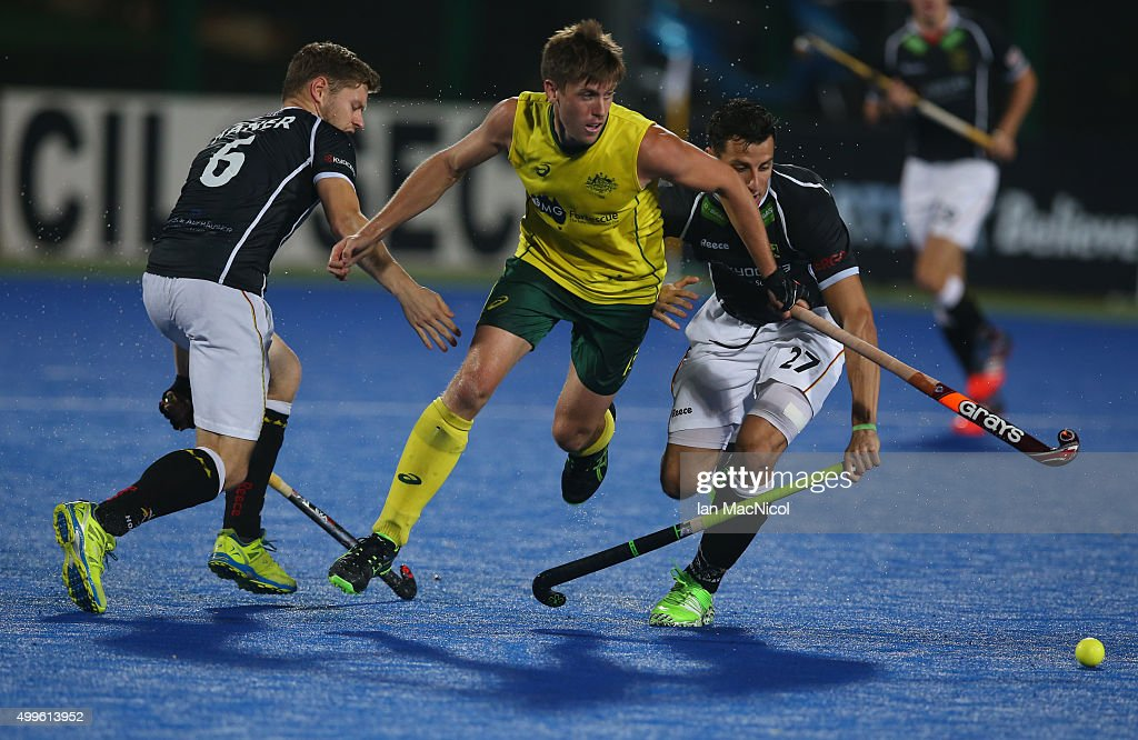 <a gi-track='captionPersonalityLinkClicked' href=/galleries/search?phrase=Eddie+Ockenden&family=editorial&specificpeople=4132629 ng-click='$event.stopPropagation()'>Eddie Ockenden</a> of Australia chases the ball during the match between Australia and Germany on day six of The Hero Hockey League World Final at the Sardar Vallabh Bhai Patel International Hockey Stadium on December 02, 2015 in Raipur, India.