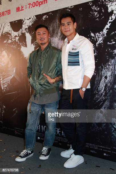 Eddie Peng and Shawn Yue promote for 'Wu Kong' on 07th August 2017 in Hongkong China