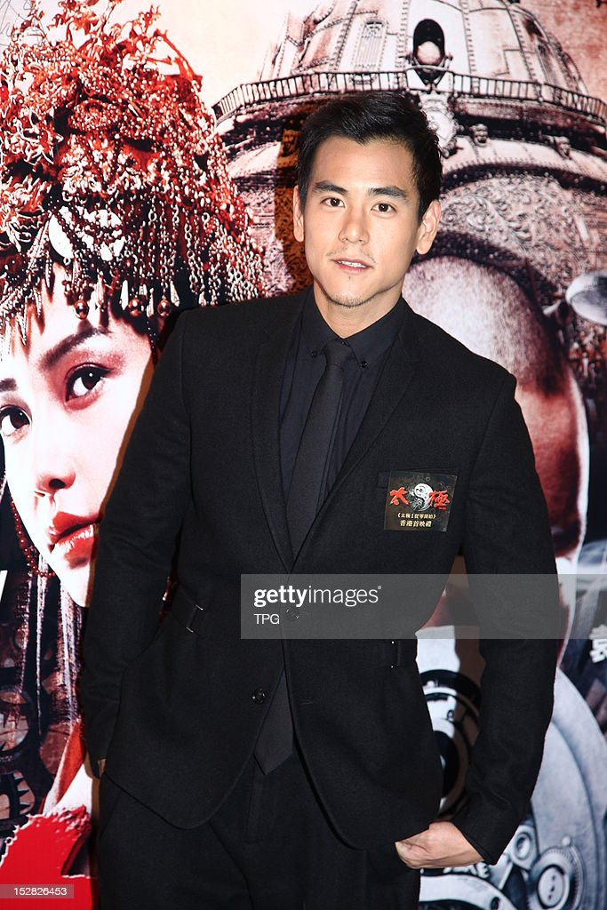Eddie Peng attends press conference of Taichi 0 on September 26, 2012 in Hong Kong, China.