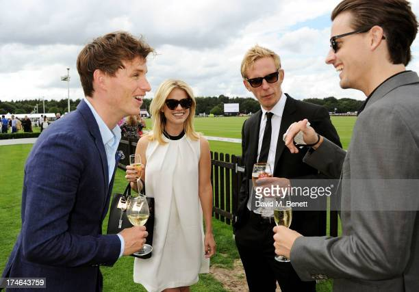 Eddie Redmayne Alice Eve Laurence Fox and Jack Eve attend the Audi International Polo at Guards Polo Club on July 28 2013 in Egham England
