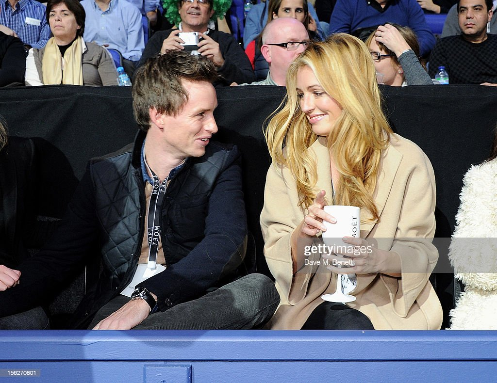 <a gi-track='captionPersonalityLinkClicked' href=/galleries/search?phrase=Eddie+Redmayne&family=editorial&specificpeople=2554844 ng-click='$event.stopPropagation()'>Eddie Redmayne</a> (L) and <a gi-track='captionPersonalityLinkClicked' href=/galleries/search?phrase=Cat+Deeley&family=editorial&specificpeople=202554 ng-click='$event.stopPropagation()'>Cat Deeley</a> attend the Moet & Chandon VIP Suite during day eight of the ATP World Finals at the O2 Arena on November 12, 2012 in London, England.