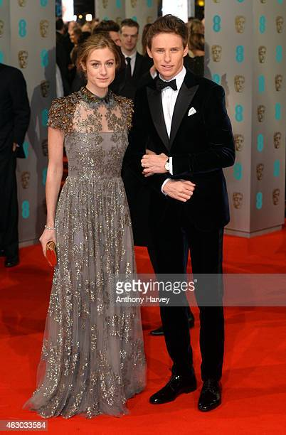 Eddie Redmayne and Hannah Bagshawe attend the EE British Academy Film Awards at The Royal Opera House on February 8 2015 in London England