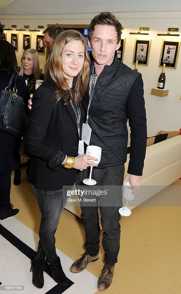 <a gi-track='captionPersonalityLinkClicked' href=/galleries/search?phrase=Eddie+Redmayne&family=editorial&specificpeople=2554844 ng-click='$event.stopPropagation()'>Eddie Redmayne</a> (R) and Hannah Bagshawe attend the Moet & Chandon VIP Suite during day eight of the ATP World Finals at the O2 Arena on November 12, 2012 in London, England.