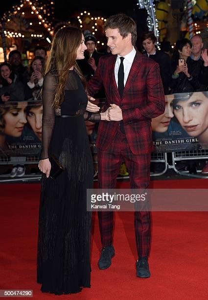 Eddie Redmayne and Hannah Bagshawe attend the UK Film Premiere of 'The Danish Girl' on December 8 2015 in London United Kingdom