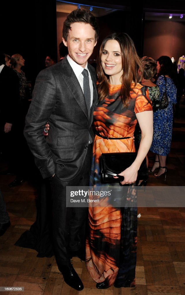 Eddie Redmayne (L) and Hayley Atwell attend the London Evening Standard British Film Awards supported by Moet & Chandon and Chopard at the London Film Museum on February 4, 2013 in London, England.