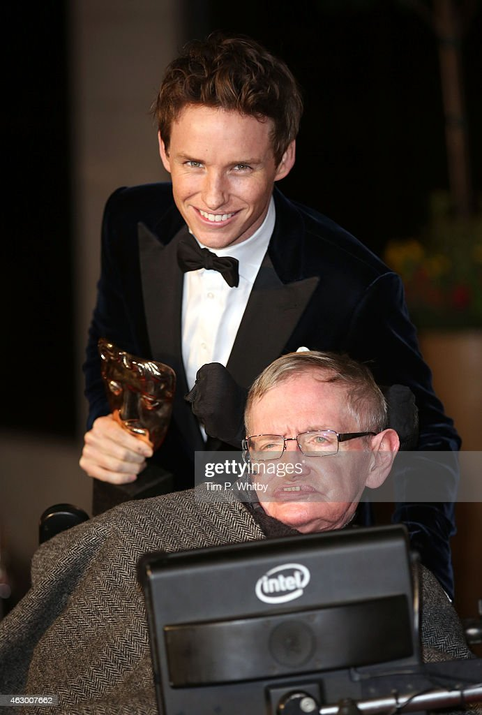 <a gi-track='captionPersonalityLinkClicked' href=/galleries/search?phrase=Eddie+Redmayne&family=editorial&specificpeople=2554844 ng-click='$event.stopPropagation()'>Eddie Redmayne</a> and Professor <a gi-track='captionPersonalityLinkClicked' href=/galleries/search?phrase=Stephen+Hawking&family=editorial&specificpeople=215281 ng-click='$event.stopPropagation()'>Stephen Hawking</a> attend the after party for the EE British Academy Film Awards at The Grosvenor House Hotel on February 8, 2015 in London, England.