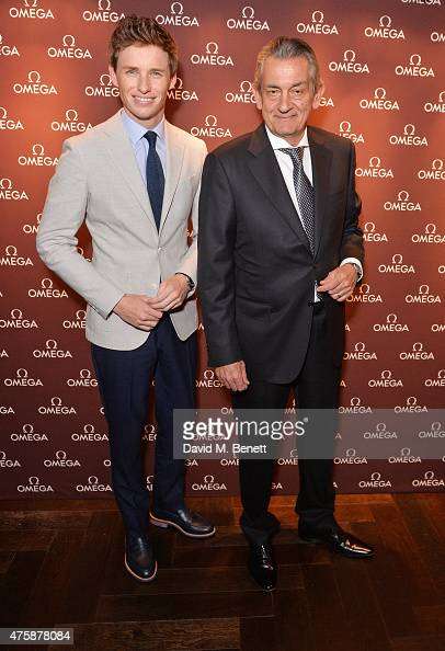 Eddie Redmayne and Stephen Urquhart attend a VIP dinner hosted by OMEGA President Stephen Urquhart in honour of new international OMEGA ambassador...