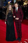 Eddie Redmayne and wife Hannah Bagshawe attend the UK Film Premiere of 'The Danish Girl' on December 8 2015 in London United Kingdom