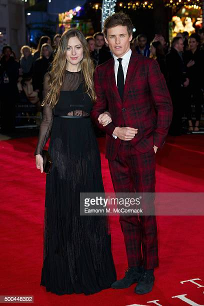 Eddie Redmayne and wife Hannah Bagshawe attend the UK Film Premiere of 'The Danish Girl' on December 8 2015 in London United Kingdom