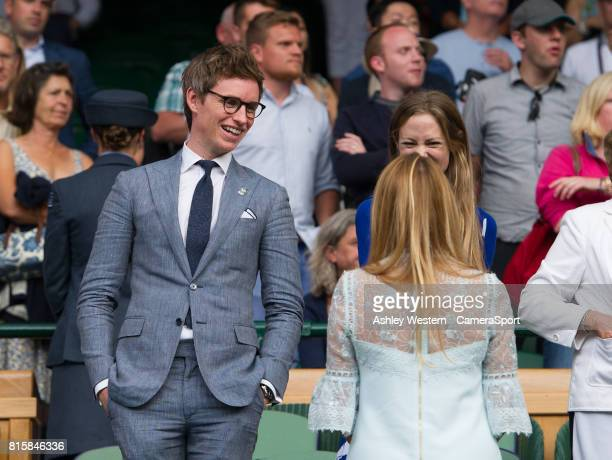 Eddie Redmayne at Centre Court for the Gentlemen's Singles Final at Wimbledon on July 16 2017 in London England