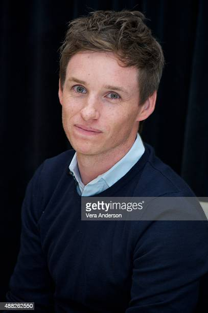 Eddie Redmayne at 'The Danish Girl' Press Conference at the ShangriLa Hotel on September 12 2015 in Toronto Ontario
