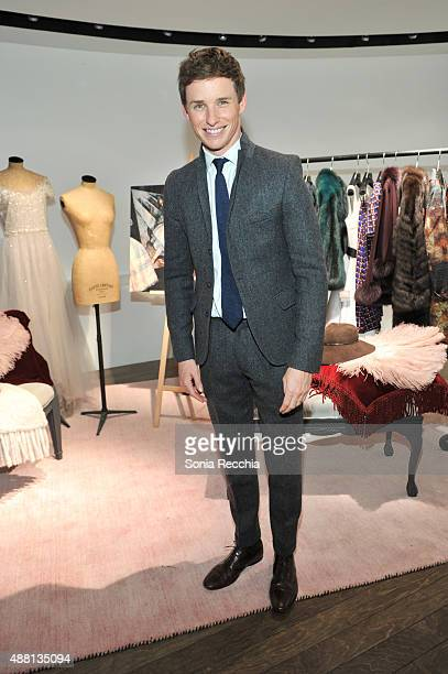 Eddie Redmayne attends Holt Renfrew and Variety Magazine cast dinner for 'The Danish Girl' at The Holts Cafe on September 13 2015 in Toronto Canada