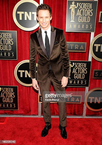 Eddie Redmayne attends the 19th Annual Screen Actors Guild Awards at The Shrine Auditorium on January 27 2013 in Los Angeles California...