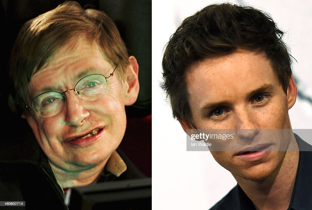 In this composite image a comparison has been made between <a gi-track='captionPersonalityLinkClicked' href=/galleries/search?phrase=Stephen+Hawking&family=editorial&specificpeople=215281 ng-click='$event.stopPropagation()'>Stephen Hawking</a> (L) and actor <a gi-track='captionPersonalityLinkClicked' href=/galleries/search?phrase=Eddie+Redmayne&family=editorial&specificpeople=2554844 ng-click='$event.stopPropagation()'>Eddie Redmayne</a>. Actor <a gi-track='captionPersonalityLinkClicked' href=/galleries/search?phrase=Eddie+Redmayne&family=editorial&specificpeople=2554844 ng-click='$event.stopPropagation()'>Eddie Redmayne</a> will reportedly play scientist <a gi-track='captionPersonalityLinkClicked' href=/galleries/search?phrase=Stephen+Hawking&family=editorial&specificpeople=215281 ng-click='$event.stopPropagation()'>Stephen Hawking</a> in a film biopic 'The Theory of Everything' directed by James Marsh. TURIN, ITALY - NOVEMBER 25: <a gi-track='captionPersonalityLinkClicked' href=/galleries/search?phrase=Eddie+Redmayne&family=editorial&specificpeople=2554844 ng-click='$event.stopPropagation()'>Eddie Redmayne</a> attends the 32s Torino Film Festival on November 25, 2014 in Turin, Italy.
