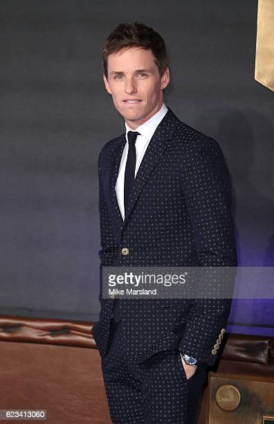 Eddie Redmayne attends the European premiere of 'Fantastic Beasts And Where To Find Them' at Odeon Leicester Square on November 15 2016 in London...
