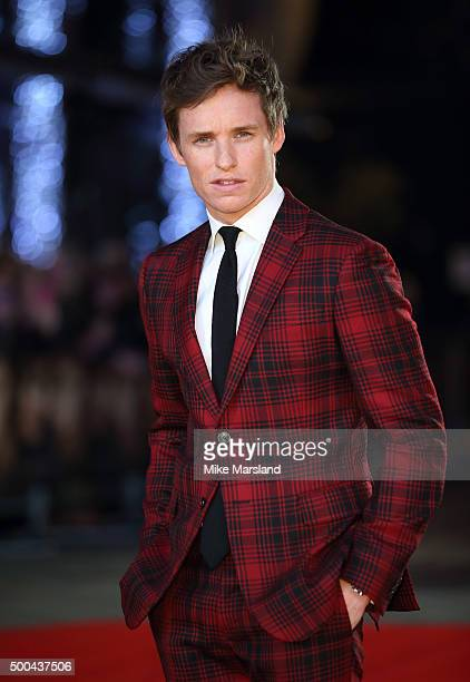Eddie Redmayne attends the UK Film Premiere of 'The Danish Girl' on December 8 2015 in London United Kingdom