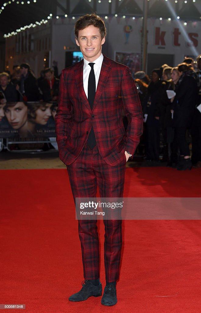 Eddie Redmayne attends the UK Film Premiere of 'The Danish Girl' on December 8, 2015 in London, United Kingdom.