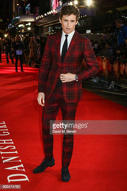 Eddie Redmayne attends the UK Premiere of 'The Danish Girl' at Odeon Leicester Square on December 8 2015 in London United Kingdom