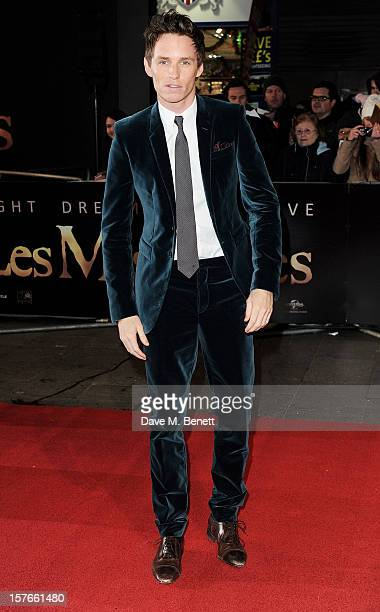 Eddie Redmayne attends the World Premiere of 'Les Miserables' at Odeon Leicester Square on December 5 2012 in London England