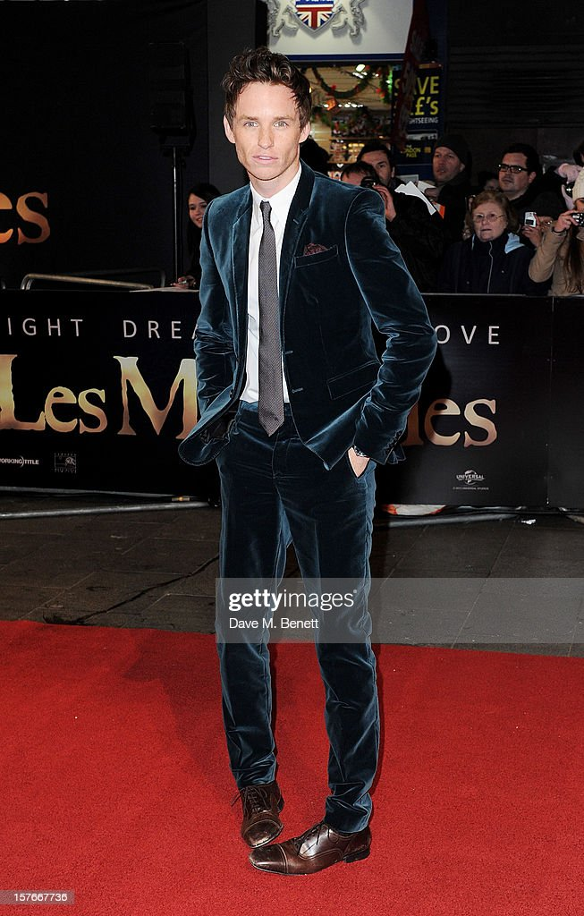 <a gi-track='captionPersonalityLinkClicked' href=/galleries/search?phrase=Eddie+Redmayne&family=editorial&specificpeople=2554844 ng-click='$event.stopPropagation()'>Eddie Redmayne</a> attends the World Premiere of 'Les Miserables' at Odeon Leicester Square on December 5, 2012 in London, England.