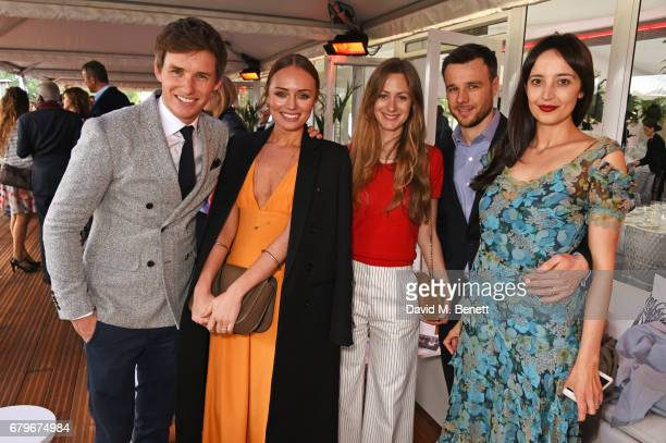 Eddie Redmayne Laura Haddock Hannah Bagshawe Rupert Evans and Olivia Bennett attend the Audi Polo Challenge at Coworth Park on May 6 2017 in Ascot...