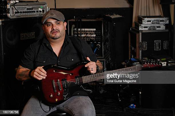 Eddie Reyes of American rock band Taking Back Sunday during a shoot for Total Guitar Magazine August 29 2011