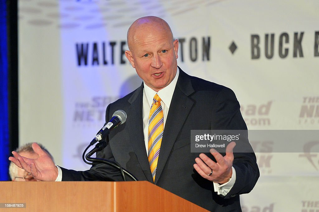 Eddie Robinson Award winner Craig Bohl of North Dakota State University speaks during the Sports Network's 26th Annual FCS Awards Presentation at the Sheraton Society Hill on December 17, 2012 in Philadelphia, Pennsylvania.