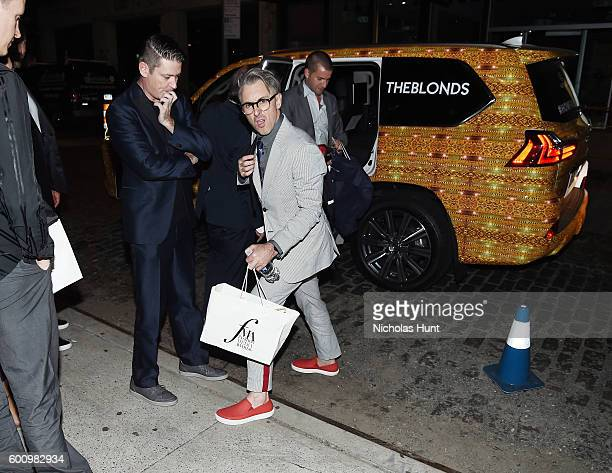 Eddie Roche and Alan Cumming arrive in Lexas Automobile to Jimmy Choo Anniversary Party September 2016 New York Fashion Week The Shows on September 8...