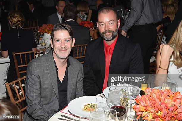 Eddie Roche and Dick Page attend God's Love We Deliver Golden Heart Awards at Spring Studio on October 15 2015 in New York City