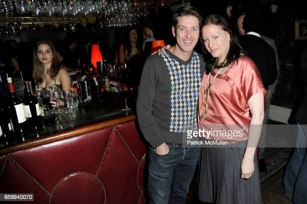 Eddie Roche and Lisa Raden attend THE CINEMA SOCIETY with THE NEW YORKER GRAND MARNIER host the after party for 'THE YOUNG VICTORIA' at Norwood on...