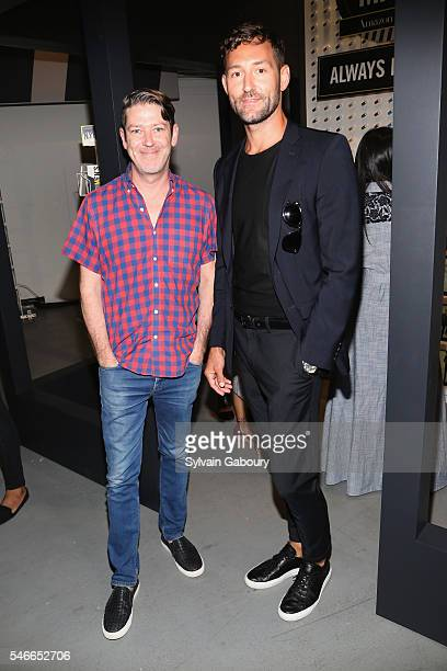 Eddie Roche and Stephen Savage attend Amazon Fashion East Dane Celebrate New York Fashion Week Men's at The Prime Lounge at Skylight Clarkson Square...