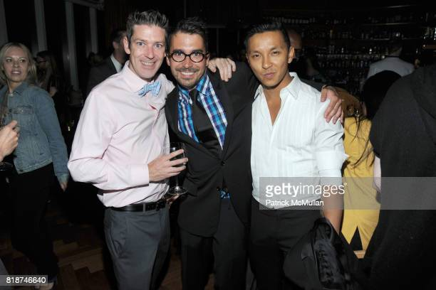 Eddie Roche Flint Beamon and Prabal Gurung attend SWAROVSKI After Party for the 2010 CFDA Awards at The 18th Floor on June 7 2010 in New York City