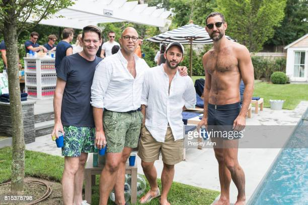 Eddie Roche Luis Hernadez Brandon Hernadez and Stephen Savage attends The Daily Summer's 3rd annual Boys of Summer Party on July 15 2017 in Sag...