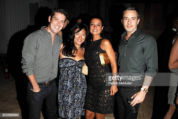 Eddie Roche Ten Ten Wu Renata Merriam and Greg Brossia attend INTERVIEW Party to Celebrate 'A New Look' at The Standard on September 4 2008 in New...