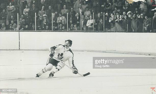 Eddie Shack skates out to a standing ovation by hokcey fans at maple leaf gardens The Entertainer takes a whirl in recognition of his first star...